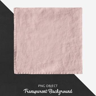 Lenço de linho rosa claro transparente