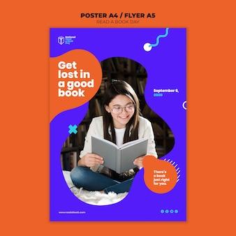 Ler um design de cartaz do dia do livro
