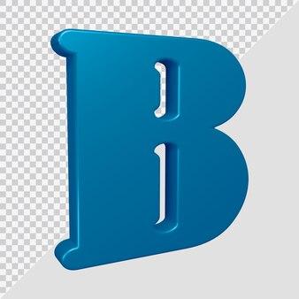 Letra do alfabeto b renderização em 3d