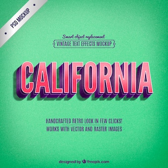 Lettering california retro