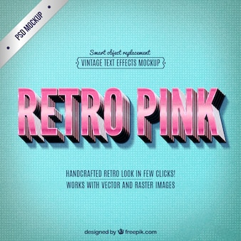 Lettering rosa retro