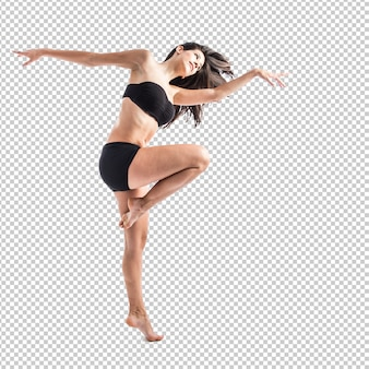 Levantamento feminino de fitness bonita