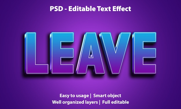 Licença de efeito de texto editável