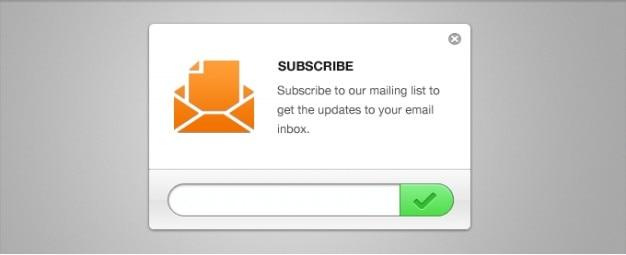 Limpa-mail formulário de inscrição newsletter psd