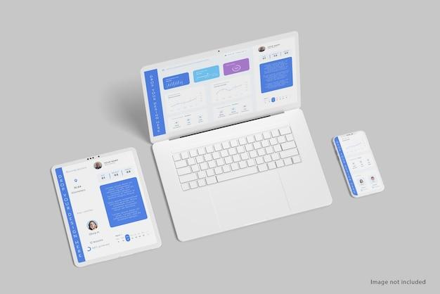 Limpar design de maquete de vários dispositivos