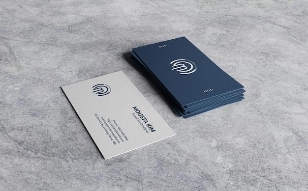 Limpar maquete de cartão de visita em fundo áspero