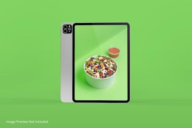 Limpe a maquete do design da tela do tablet isolada