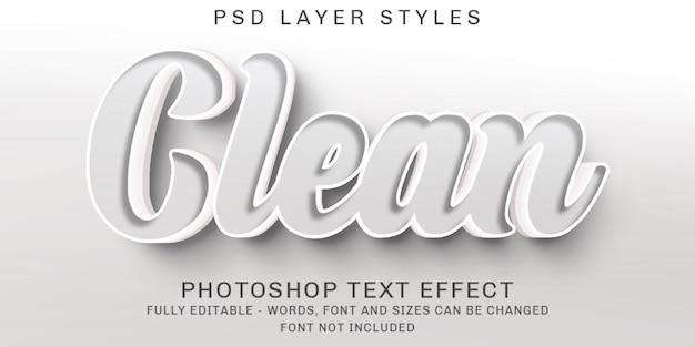 Limpe os efeitos de texto editáveis minimalistas