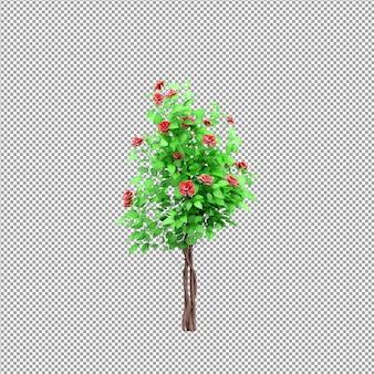 Linda planta em renderização 3d isolada