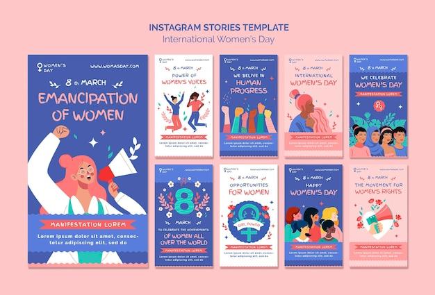 Lindas histórias do instagram do dia das mulheres