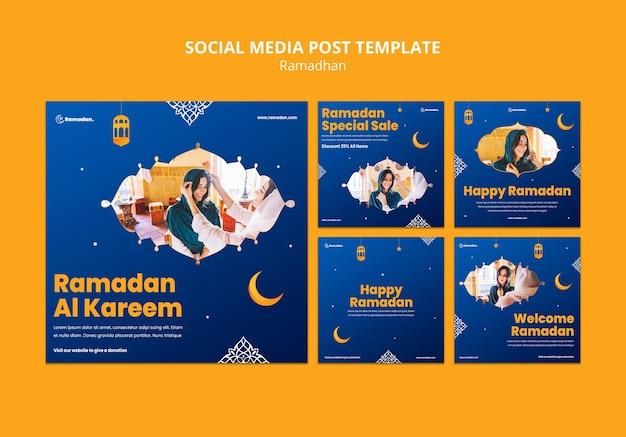 Lindas postagens nas redes sociais do ramadã