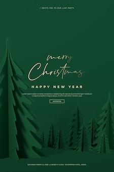 Lindo cartão de natal e feliz ano novo