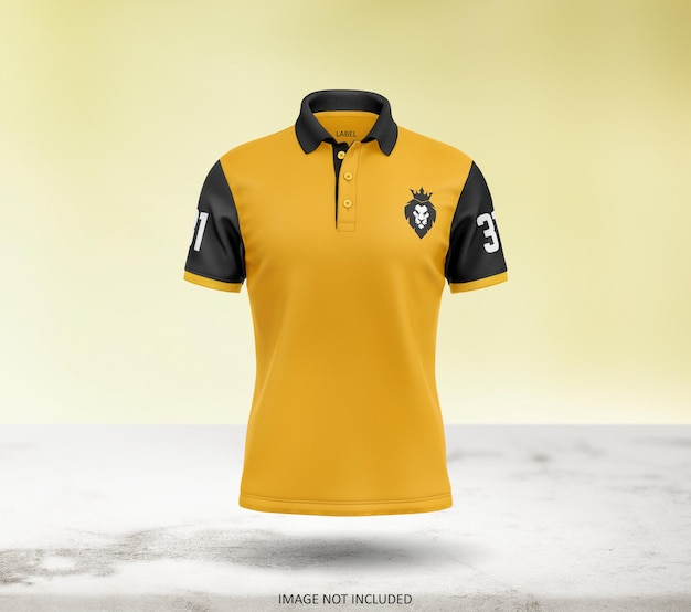 Lindo design de maquete de camiseta polo