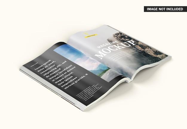Lindo design de maquete de capa de revista