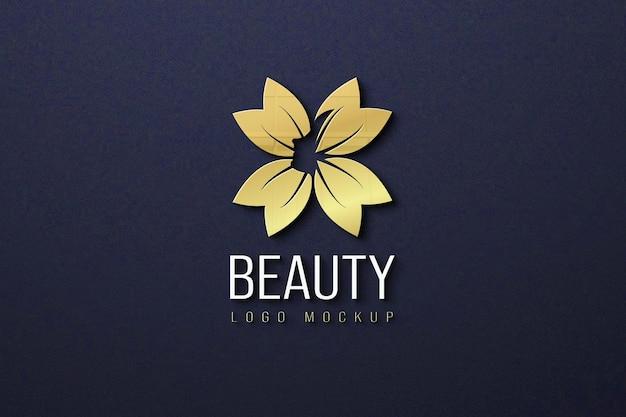 Lindo design de maquete de logotipo
