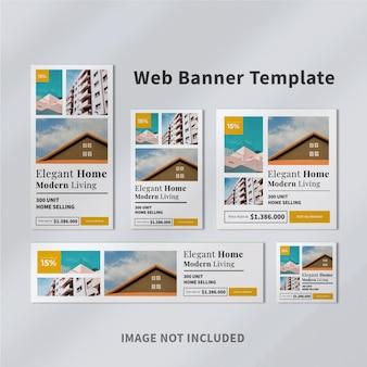 Lindo design de modelo de banner de anúncios