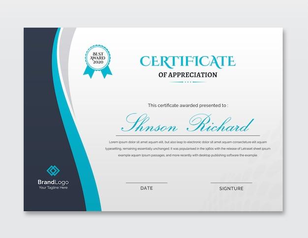 Lindo modelo de certificado comercial