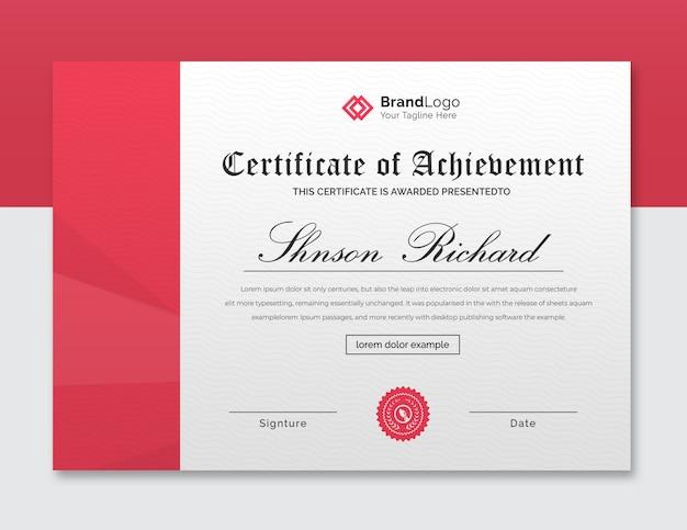 Lindo modelo de certificado