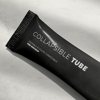 Lindo produto de maquete de tubo dobrável