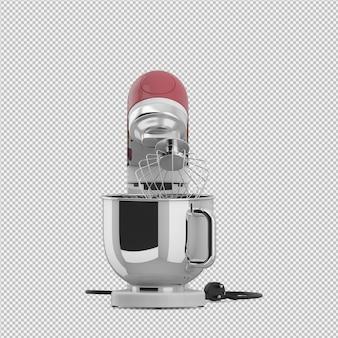 Liquidificador isométrico 3d isolado render
