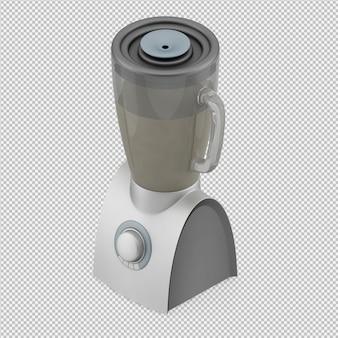 Liquidificador isométrico 3d render