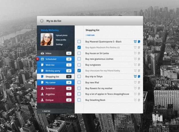 Lista de tarefas todo interface de usuário ui