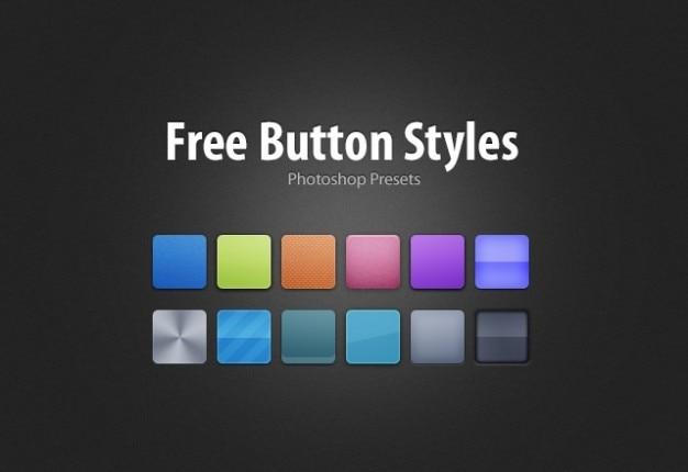 Livres estilos de botão