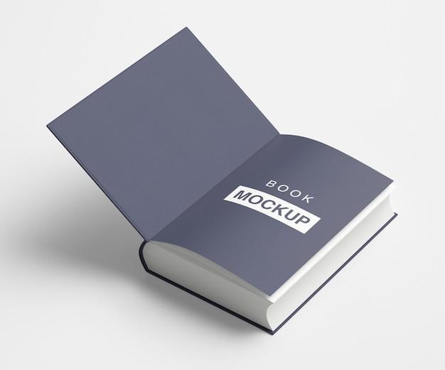Livro aberto ou maquete de revista
