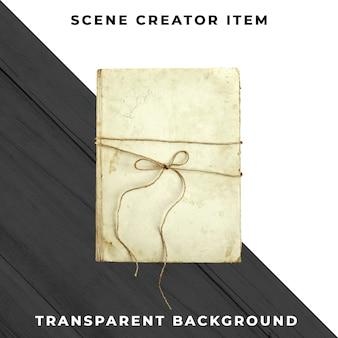 Livro antigo em fundo transparente
