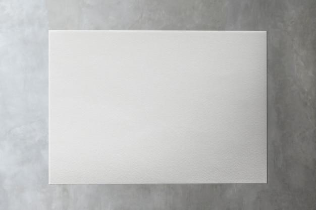 Livro branco na ilustração de maquete de mármore