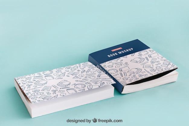 Livro cobre maquete