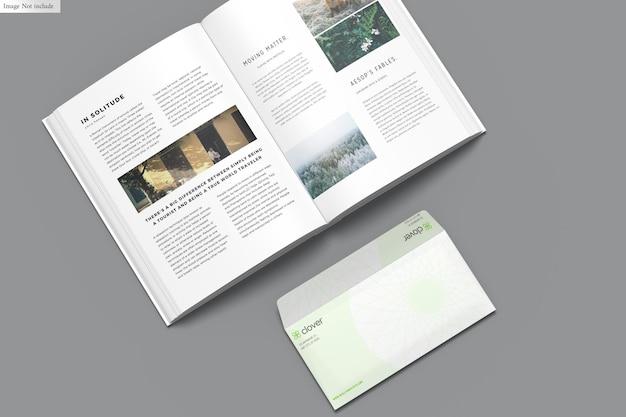 Livro com envelope maquete