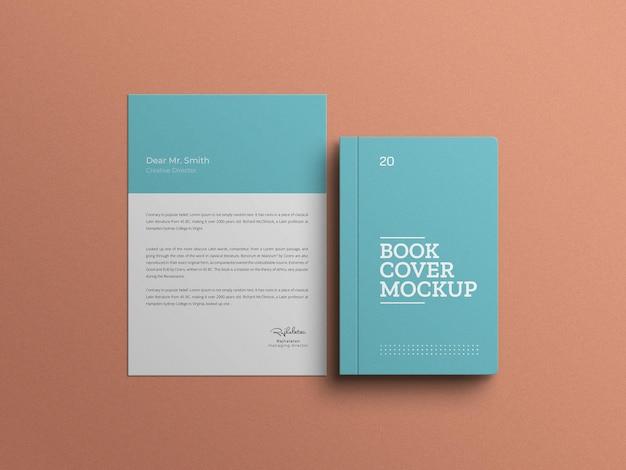 Livro com maquete de conjunto de papel timbrado