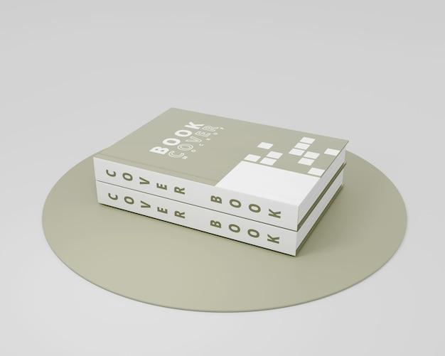 Livro de capa dura de maquete