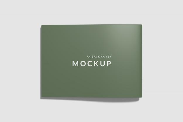 Livro de capa traseira maquete