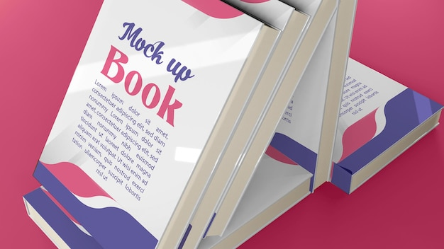 Livro de maquete 3d de todas as direções e pontos de vista