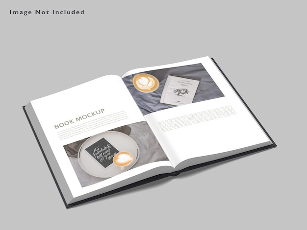 Livro de maquete isolada Psd Premium