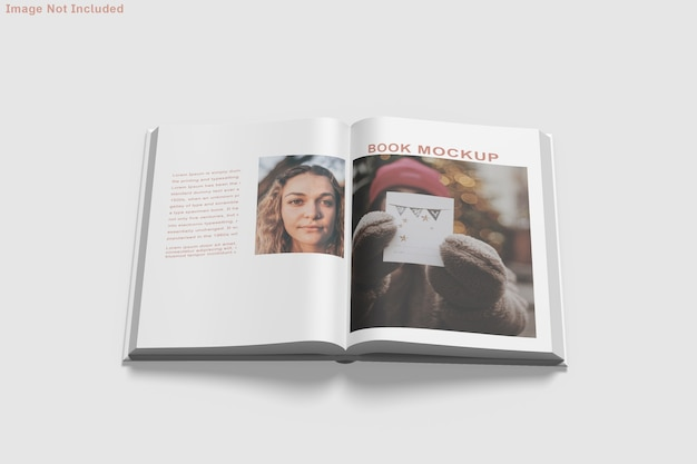Livro de maquete isolada