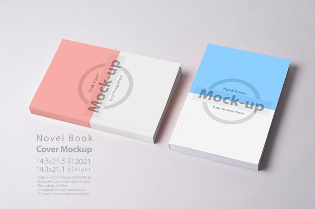 Livro de romance fechado com maquete de capa