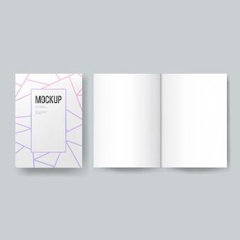 Livro em branco ou modelo de revista maquete
