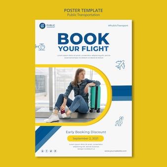 Livro modelo de pôster de voo