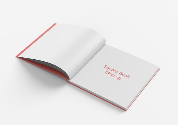 Livro quadrado aberto ou maquete de revista