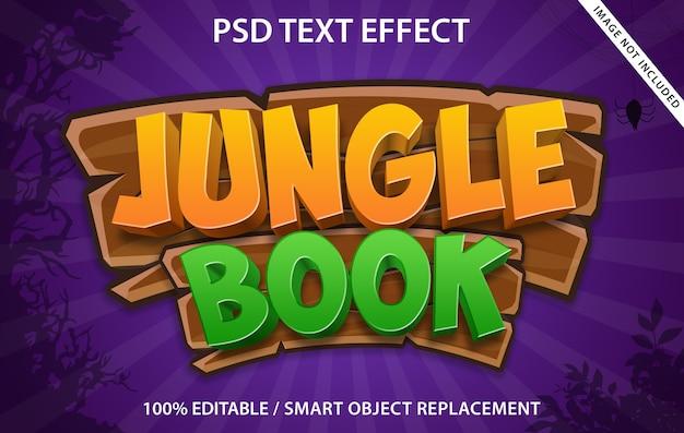 Livro selva com efeito de texto editável