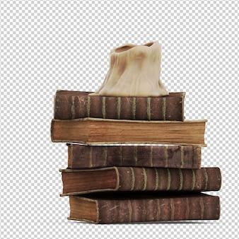 Livros vintage isométricos