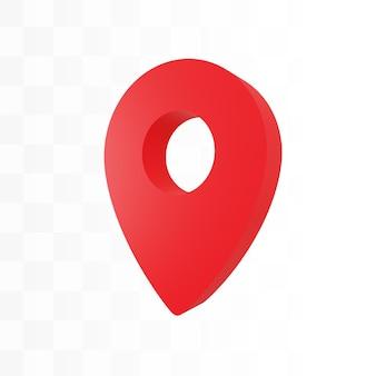Localização do pino 3d