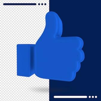 Logo do facebook como em renderização 3d