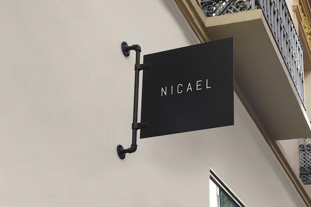 Logo mockup black modern sign