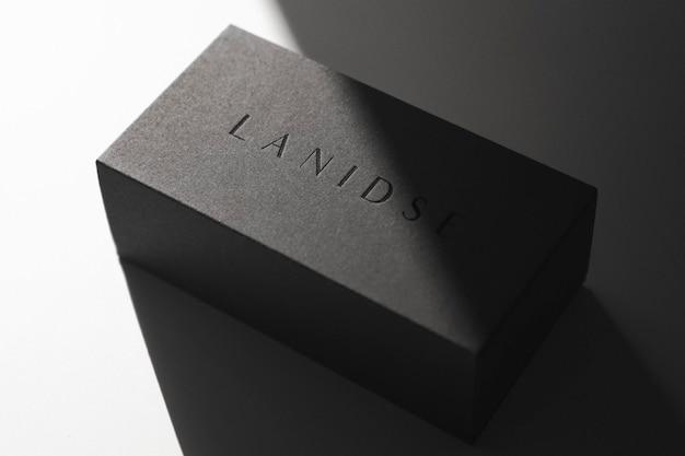 Logo mockup luxury box relógio