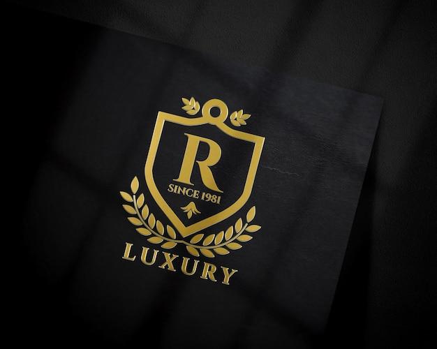Logo mockup. para apresentação de marca, identidade corporativa, publicidade