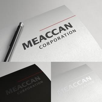 Logotipo corporativo simples e elegante
